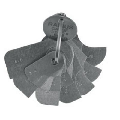 Rádiuszsablon 3-12mm-ig, 12 lemez gyűrűn, MIB 78085011