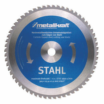 Fűrésztárcsa acélhoz  305 x 2,4 x 25,4 mm z60 (MTS 356-hoz) Metallkraft: 3853051