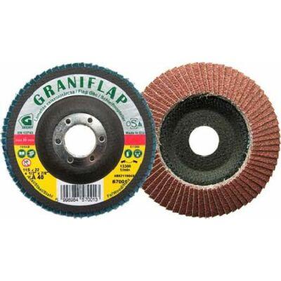Lamellás csiszolótárcsa korund (kúpos)   Graniflap 115x22,23 A60: GRANIT 57002