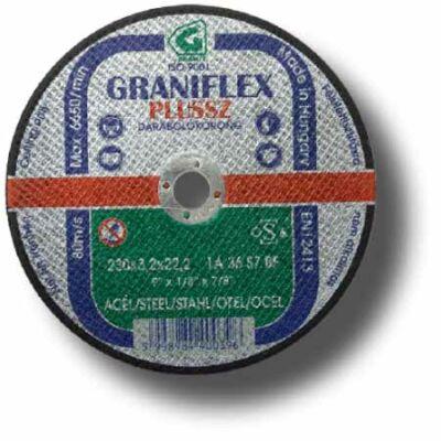 Graniflex Plussz vágókorong szerk. acélra   180x1,6x22,23  1A46S7BF 80: GRANIT 40194
