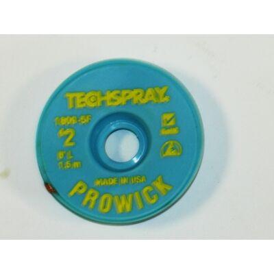 Kiforrasztó szalag Techspray: XL2-5 1,5mm/1,5m (1809-5F), ,
