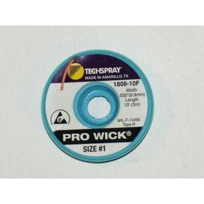 Kiforrasztó szalag Techspray 1808-10F: XL1-10 0,8mmx3m