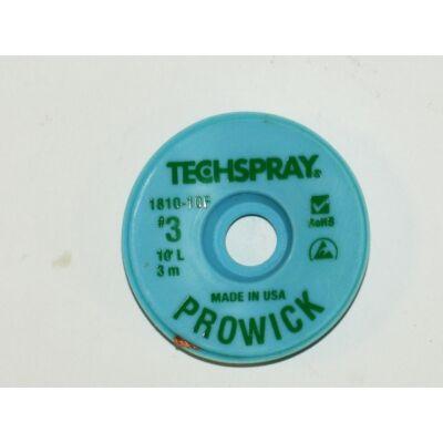 Kiforrasztó szalag Techspray 1810-10F: XL3-10 1,9mmx3m, ,