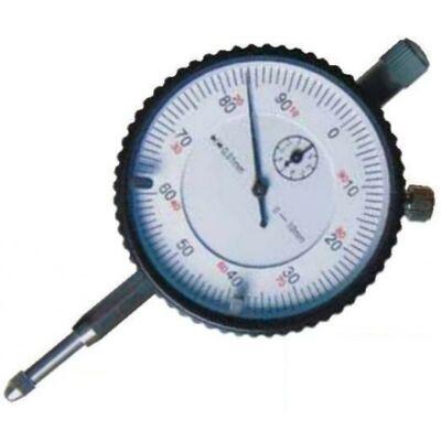 """Mérőóra """"füllel"""", fémházas 10 mm, 1 fordulat=1 mm, befogószár 8 mm, leolvasás 0.01 MIB: 01023007"""