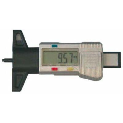 """Digitális abroncs profilmérő 25mm, híd hossza 60mm, Leolvasás 0,01/0,0005"""". 3V MIB: 01007019"""