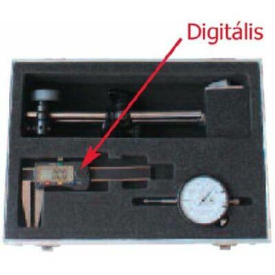 Digitális féktárcsa mérőkészlet 3-részes tolómérő 70/0,01 mágneses óraállvány. Mérőóra 10/0,01 MIB: 01007026