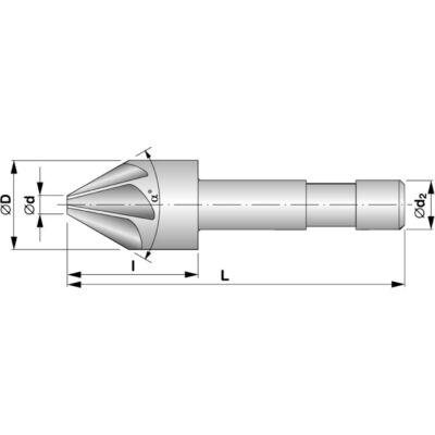 Hengeres szárú, 120°-os kúpsüllyesztő HSS 221627 - 120X16: StimZet
