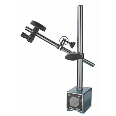 Mágneses mérőóra állvány 280mm, finombeállítóval, 8mm-es 60Nm, mágnestalp, MIB: 06071005