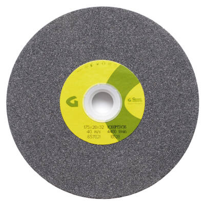 1C jelű szilícium karbid köszörűkorong, szürke 175x20x20mm 1C60K5V 36 Granit: 10492
