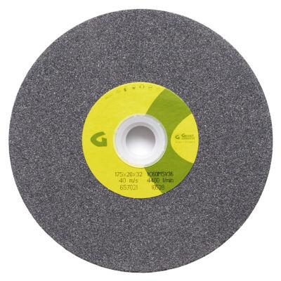 1C jelű szilícium karbid köszörűkorong, szürke 175x25x32mm 32/25/20 1C60M5V 36 Granit: 10553