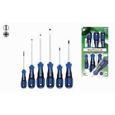 WIHA Proturn® 3K Lapos/Pozidriv csavarhúzókészlet, 6 részes. 450N 3K ZK6: 25447, Kifutó termék,