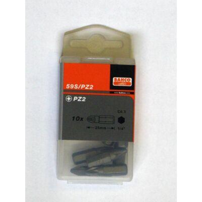 BIT PZ2 25MM 1/4 VE 10 db bit, műanyag tartóban Bahco: 59S/PZ2