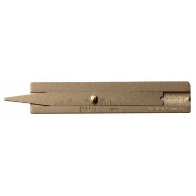 Abroncs profilmélység mérő,  mérési tartomány: 50 mm, sárgaréz MIB: 71007050