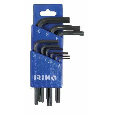 Hajlított hatszögkulcs foszfátozott készlet műanyag tokban,, 9 részes 1,5-10 mm IRIMO: 46-9-H