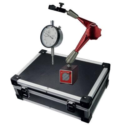 Mérőra+mágneses állvány kofferben 10/0,01mm-es órával és 281mm-es állvány, 80 kg MIB 81005028