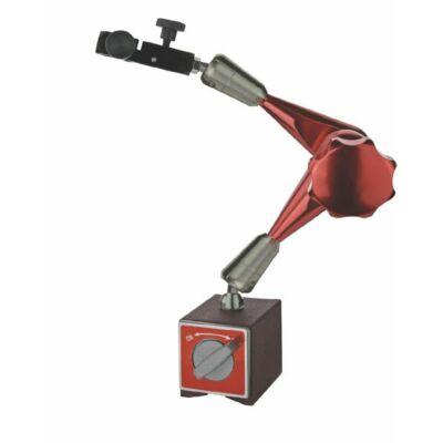 Mágneses mérőóra állvány központi rögzítővel, kofferban, teljes hossz 333mm, 80 kg MIB 86071040