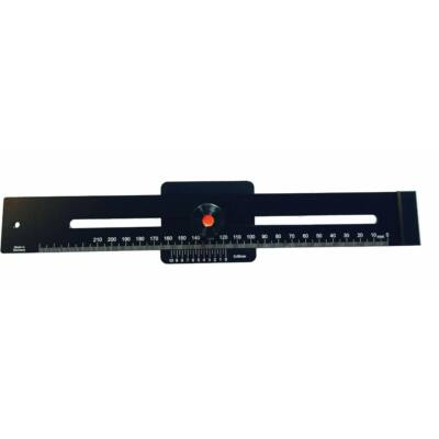 Párhuzam jelölő vonalzó, alumínium, fekete 250/0,05mm MIB 85057021
