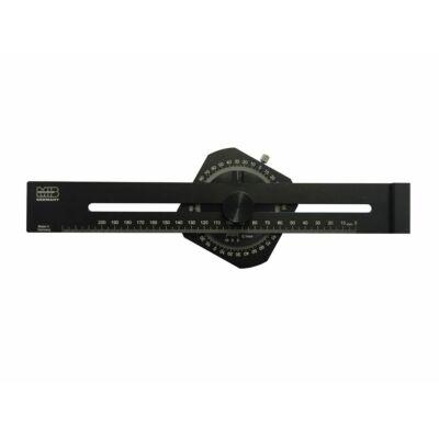 Párhuzam jelölő vonalzó szögmérővel 200 mm MIB: 05057025