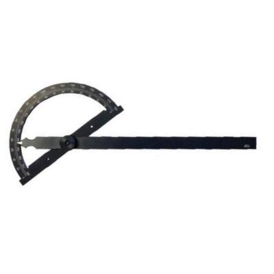 Szögmérő 0-180 fok ív átmérő 80 mm szár hossza 120 mm MIB 05058030
