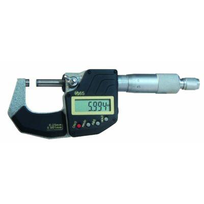 Digitális mikrométer keményfém mérőfelülettel, HOLD funkcióval 0,001 mm ABS 0-25 mm MIB 02029105