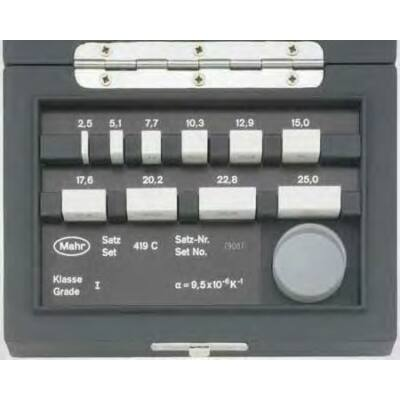 419 C/1 Kerámia párhuaos mérőhasábok készlet 2,5-25 mm (10 db) + vizsgálóüveg Mahr: 4800090