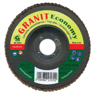 Lamellás csiszolótárcsa korund (kúpos) Granit Economy 125x22,23 A80 Granit: 57081