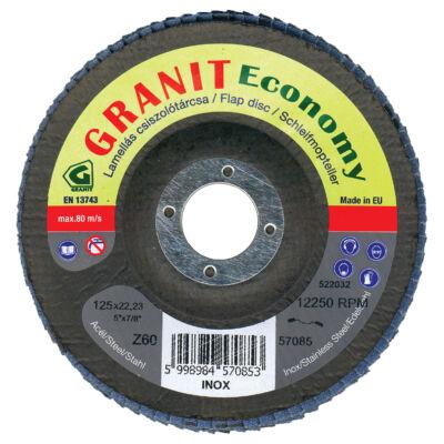 Lamellás csiszolótárcsa cirkon (kúpos)  Granit Economy 125x22,23 Z80 GRANIT: 57087
